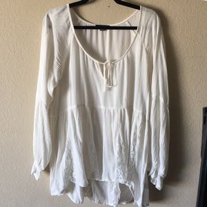 White Peasant Tunic from AEO
